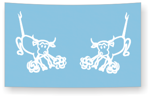 snorting bull decal sheet