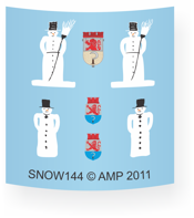 Snowman 144 insignia decal sheet