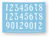 number set decal sheet